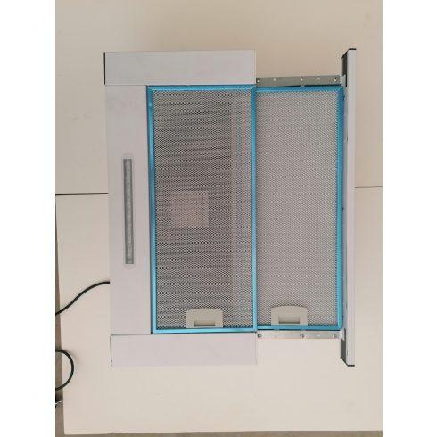 60 cm, Páraelszívó NoraPro, 450m3/óra, kihúzható, beépíthető, fehér, 60 cm, 2 motor, 3 fokozat, LED F4WHITE60450