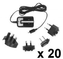 Micro USB töltő, 5V / 1,2A , 20 db/ csomag,  univerzális töltő, mobiltelefon töltő, okostelefon töltő, tablet töltő, GPS töltő TAV010501200
